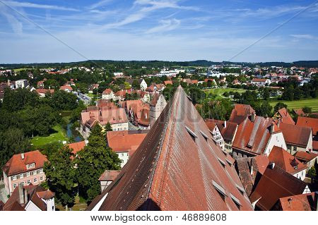 Romantic Dinkelsb�hl, City Of Late Middleages And Timbered Houses