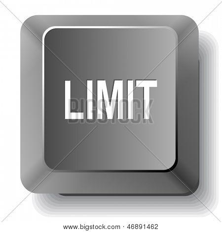 Limit. Vector computer key.