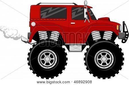 4X4 monstertruck vector
