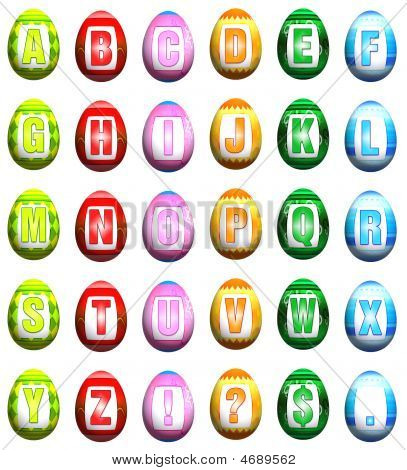 Easter Egg Font - Mix