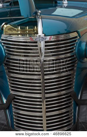 1938 Blue Chevy Coupe Grill