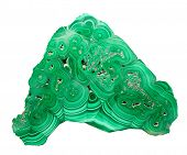 image of malachite  - malachite stone isolated on white background - JPG