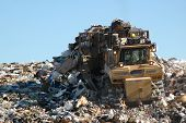 stock photo of landfill  - landfill operations  - JPG