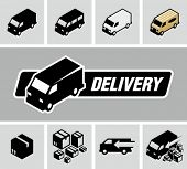 stock photo of trucking  - Delivery trucks - JPG