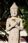 foto of raja  - Buddha Carved Marble in Wat Raja Mon Thian  - JPG
