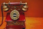 Постер, плакат: Старый телефон современные кнопка