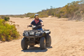 pic of four-wheelers  - All Terrain Vehicle rider in Cabo San Lucas Mexico - JPG