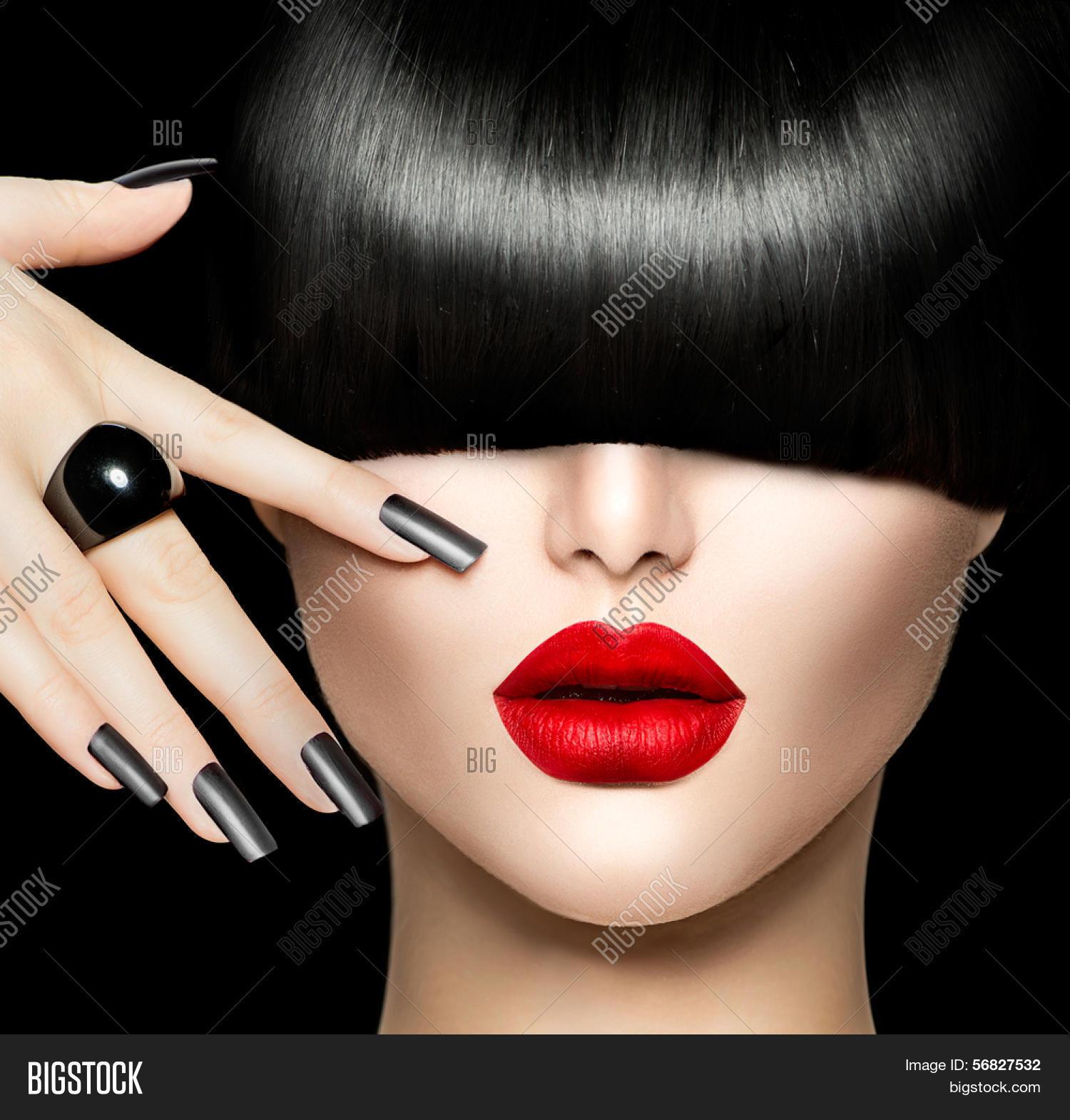 high fashion model girl portrait image photo bigstock. Black Bedroom Furniture Sets. Home Design Ideas