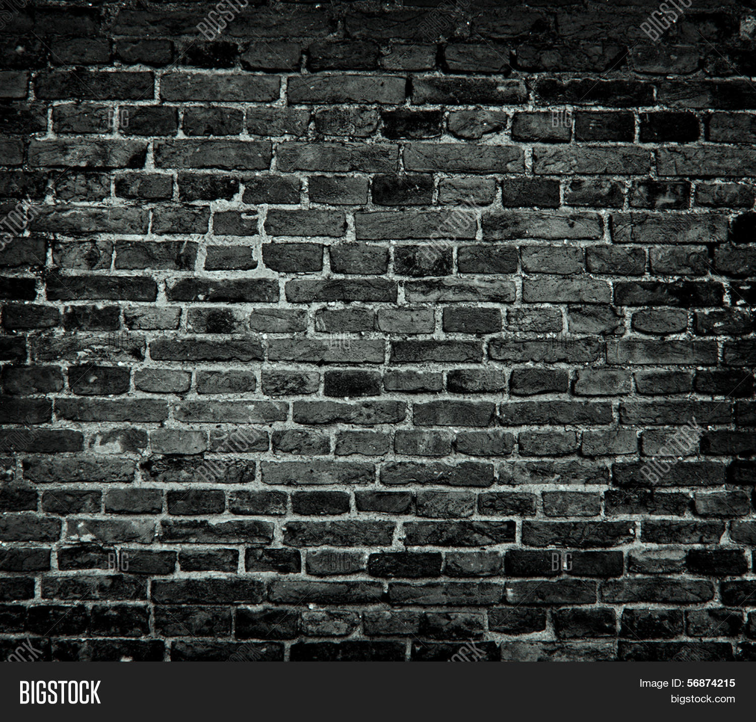 Dark brick wall images galleries with for Black and white wallpaper for walls