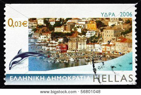 Postage Stamp Greece 2006 Hydra, Island View