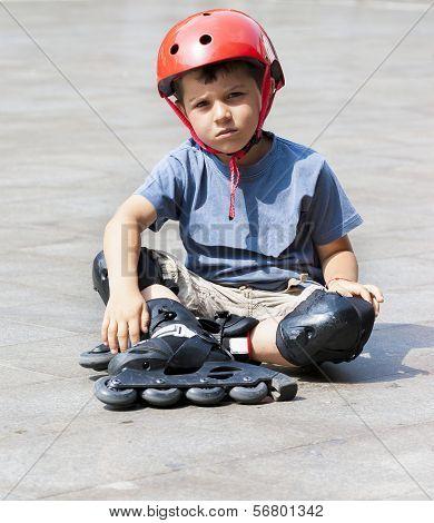 Child Rollerbladin