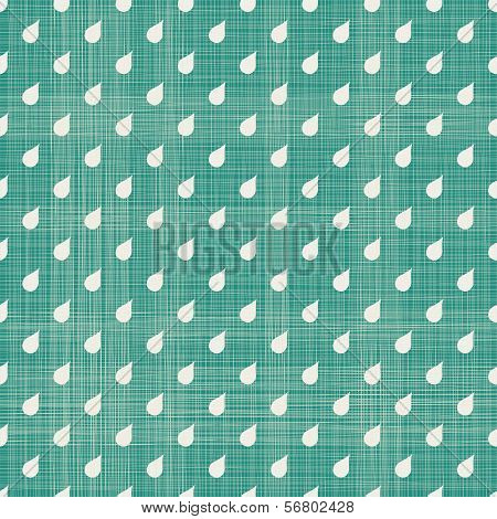 Abstract Drops Seamless Pattern With Fabric Texture