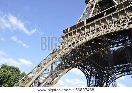 Eiffel Tower pillars in Paris