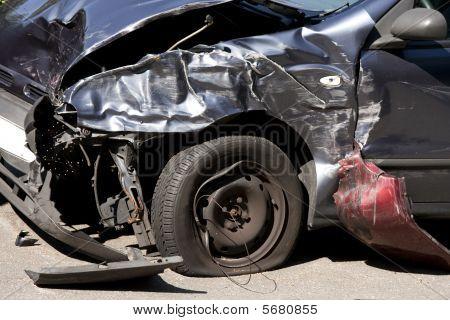 Front End Car Crash