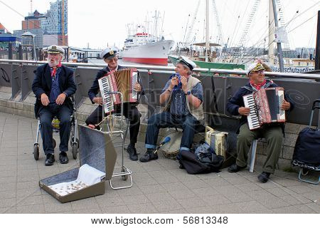 maritime traditions at Hamburg harbour