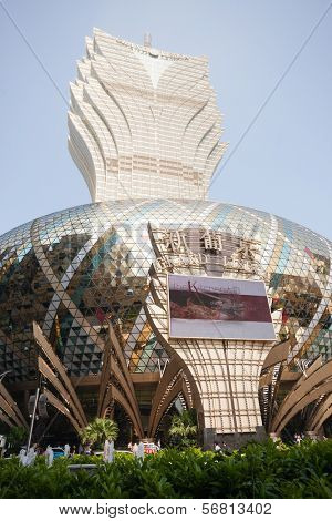 MACAU, CHINA - NOVEMBER 2, 2012: Grand Lisboa Casino - one of the largest and most popular casino. Macau is the gambling capital of Asia and is visited by about 29 million people every year.