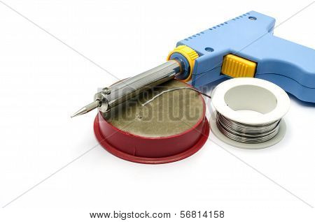 Soldering Equipment Isolated On White