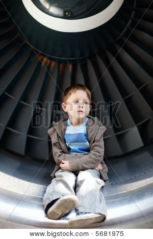 Boy Inside Turbine