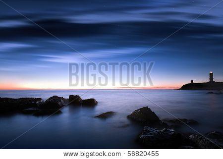 Beacon At Night, Seascape