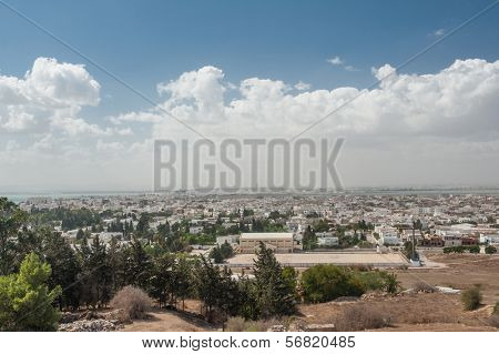 City of Tunis, capital of Tunisia, from above