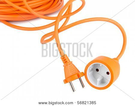 Extension cable isolated on white