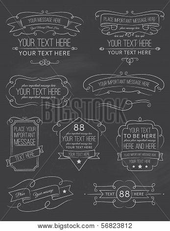 Vintage Calligraphy ChalkBoard Elements