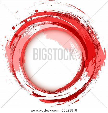 Abstract Vector Bright Painting Design Element. Red.eps