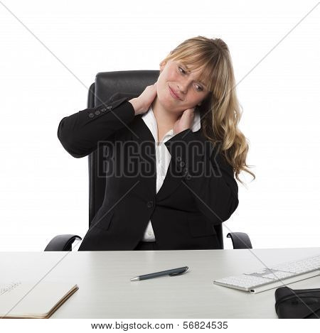 Young Office Worker With A Stiff Neck