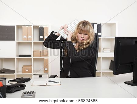 Angry Businesswoman Throwing A Tantrum