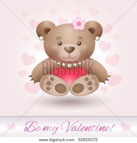 Beautiful bear girl in love