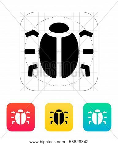Spy bug icon.
