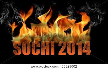 Sochi 2014 Fire Text