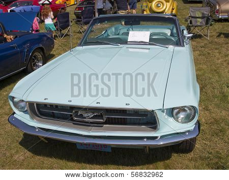 1967 Aqua Blue Ford Mustang Convertible