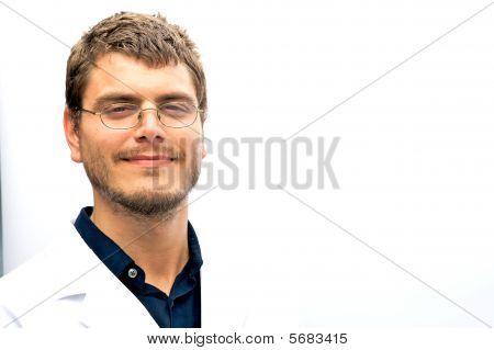Attractive Scientist Student