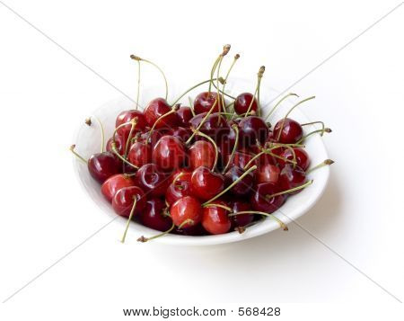 Cherries On White Plate 2