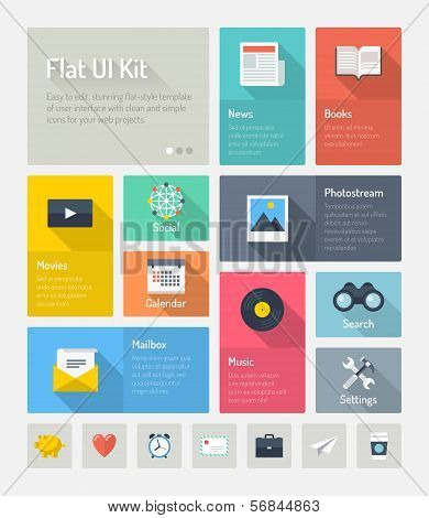Flat Infographic Website User Interface Concept poster