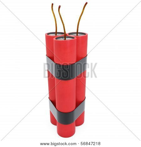 3D Dynamite Pack With Fuse