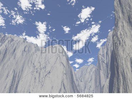 Paesaggio em Alta Quota em Montagna Invernale