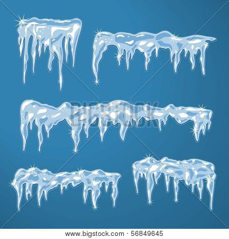 Ice sheets with icicles