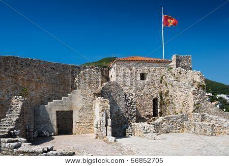View On Old Town Of Budva. Montenegro, Balkans