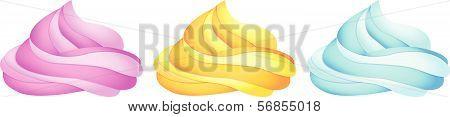 Custard (pink Yellow Blue) Set