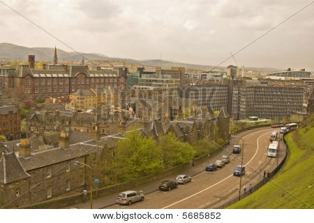 Edinburgh looking from the castle
