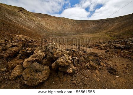 Vulcanic Timanfaya  Rock Stone Sky  Hill And Summer In Los Volcanes