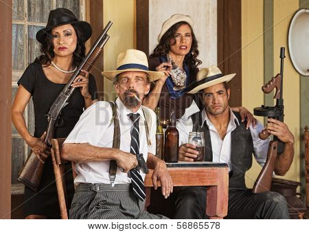Armed Bootleggers With Guns
