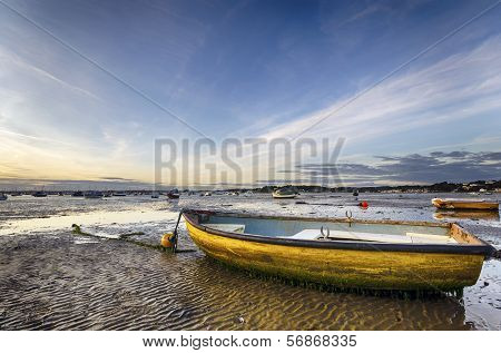Yellow Boat On Beach