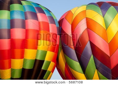 Two Hot Air Balloons Bumping