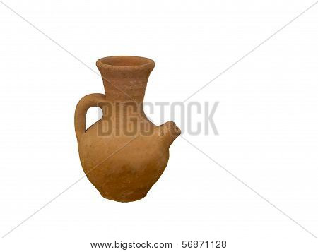Clay Jug With Spout