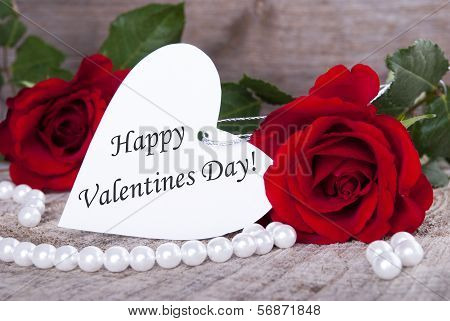 Background With Happy Valentines Day
