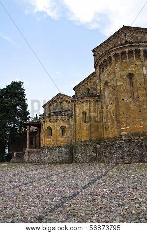 Collegiate Church of Castell'Arquato. Emilia-Romagna. Italy.