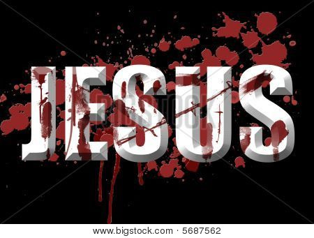 Conceptual Blood Of Jesus